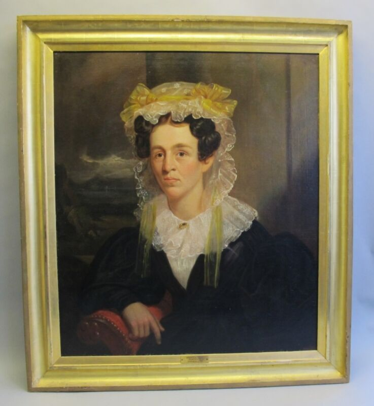 Museum Quality Large & Original Antique Portrait Of A Woman  C. 1830