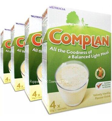 4 x Complan Vanilla Nutrition Vitamin Supplement Protein Energy Drink 4x55g