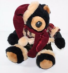 Dan Dee Plush Winter Christmas Lodge Decor Stuffed Animal Lovey Hat Coat Pants