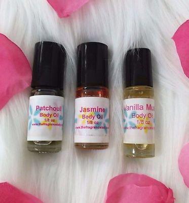 Chocolate Coconut Perfume Body Oil Fragrance 1/8 oz Roll On One Bottle Dram Coconut Perfume Body Oil