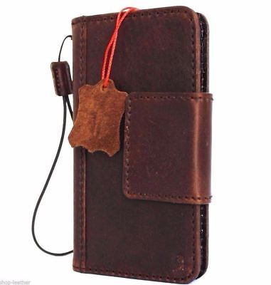 Genuine Leather Case For Google Pixel 2 Book Cards Wallet Cover Magnet Holder Jp