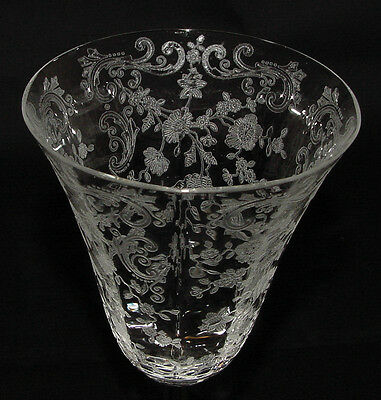 "PERFECT Vintage Cambridge ""CHANTILLY"" Etched #3779 WATER GOBLET!!"