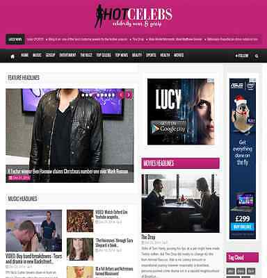Turnkey News Website 100  Automated   Hot Wordpress Celebrity Gossip Blog