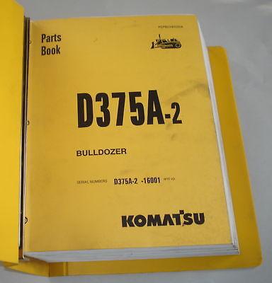 Komatsu Bulldozer D375a-2 Parts Manual