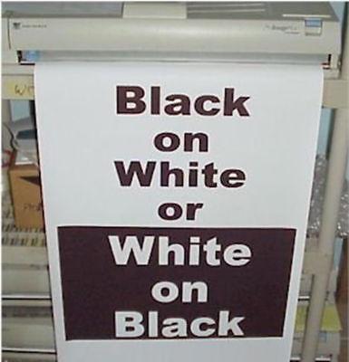 Poster Printer Paper Roll 36x100 Variquest Fujifilm Varitronics Black On White