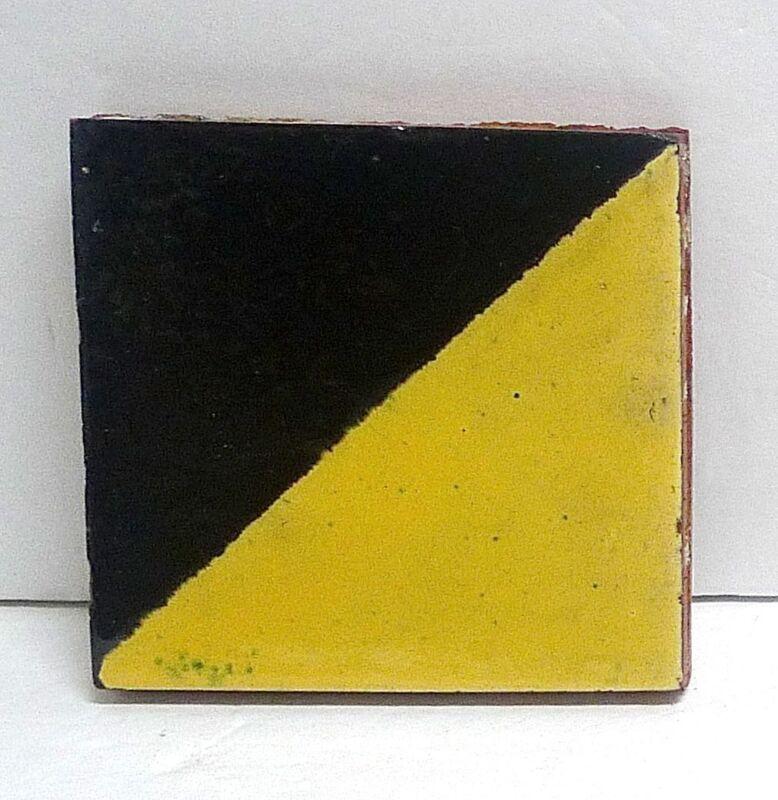 Malibu Vintage Tile/Black & Yellow