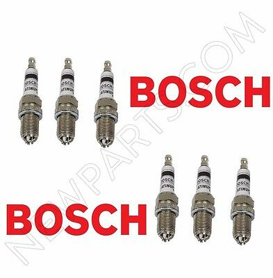 6 Pc Bmw Spark Plugs Bosch Platinum 4   Factory High Power Set E39 E46 M54