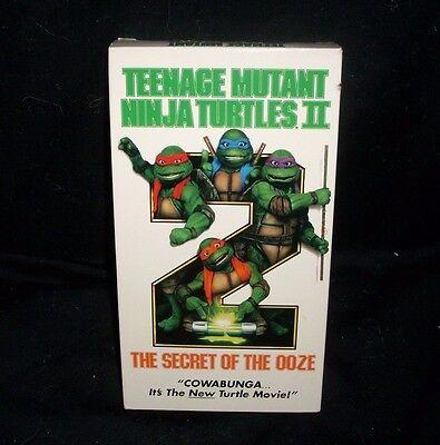 Teenage Mutant Ninja Turtles Secret der Schlamm Farbe VHS Kinder Film ()