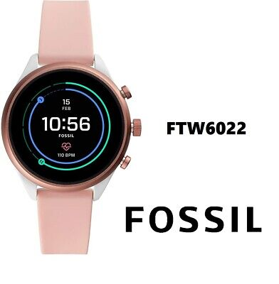 Fossil Women's Sport Metal and Silicone Touchscreen Smartwatch FTW6022 - NEW!