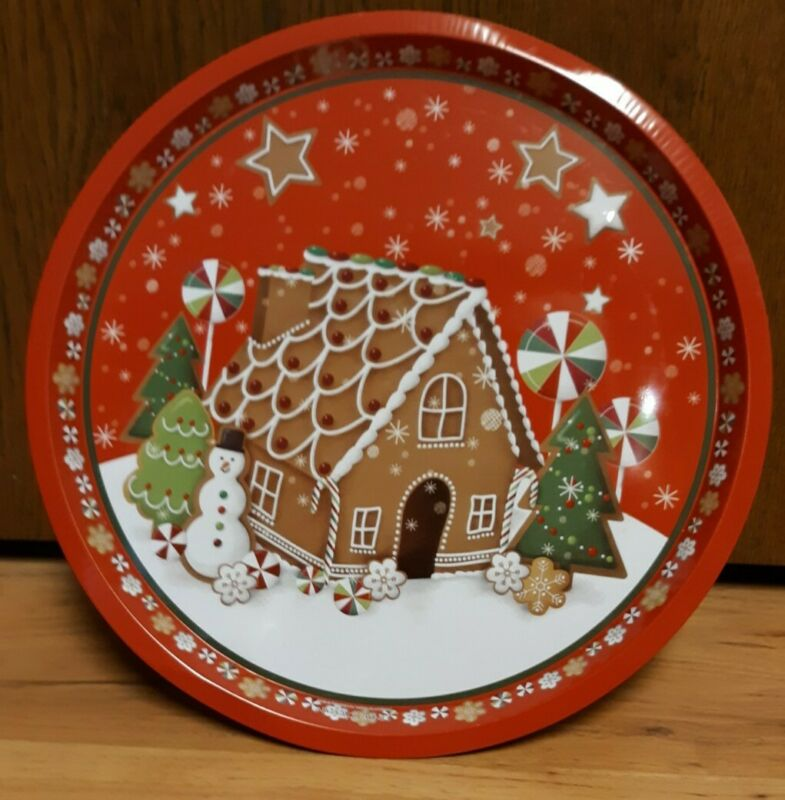 Lindy Bowman Christmas Tray - Gingerbread House 12 In DIA 1/2 In High