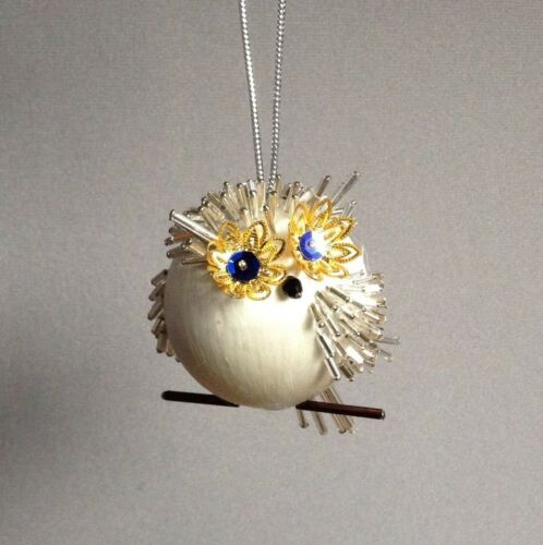Make an OWL BE HOME FOR CHRISTMAS Ornament Kit Satin Silk Ball Dazzle Crafts