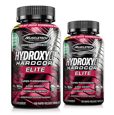 Muscletech Hydroxycut Hardcore Elite  100 Or 180 Capsules   Best By 04 2017