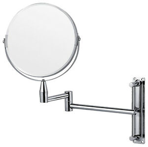 Chrome wall mounted extending folding shaving vanity Bathroom magnifying mirrors wall mounted