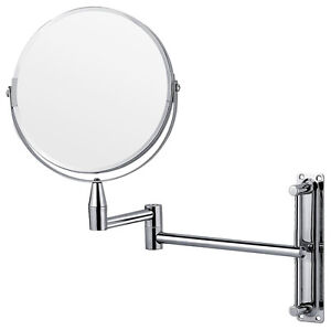 extending bathroom mirror chrome wall mounted extending folding vanity 12808