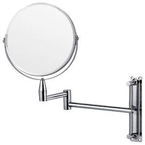 chrome wall mounted extending folding shaving vanity