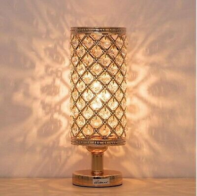 Crystal Table Lamps Lamp, Decorative Nightstand Room Lamps, Bedside Light Small