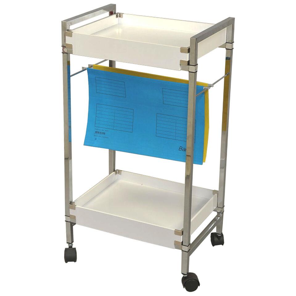 FILO - Office Paperwork Filing / Storage Trolley - White CH6028B