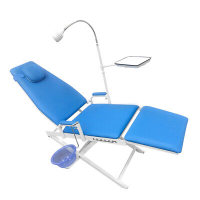 Updated Dental Portable Mobile Chair Folding Chair Led Cold Light Headrest