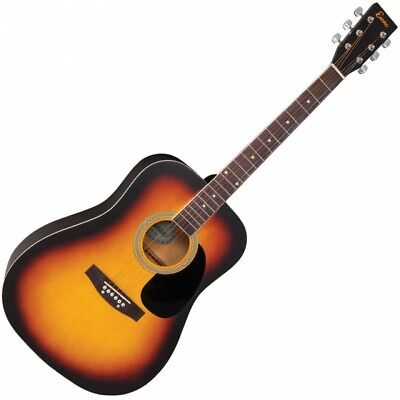 Encore Dreadnought Style Acoustic Guitar 6 String - SUNBURST