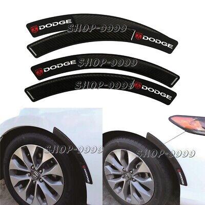 4x Dodge Carbon Fiber Fender Arch Trim Sticker Protector Car Wheel Eyebrow Strip