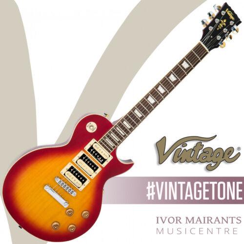 Vintage V100 3 Pickup Electric Guitar - Cherry Sunburst V1003CSB