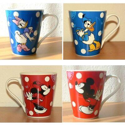 Kaffeetasse Tasse Becher Kaffeebecher Disney Micky Minnie Maus Daisy Donald Duck