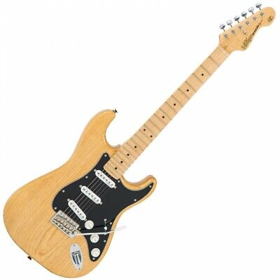 Vintage V6 Reissued Electric Guitar - Natural Ash V6MNAT