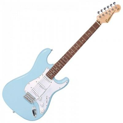 Encore E6LB - st-Style Tamaño Completo Doble Cutaway Guitarra Eléctrica - Laguna