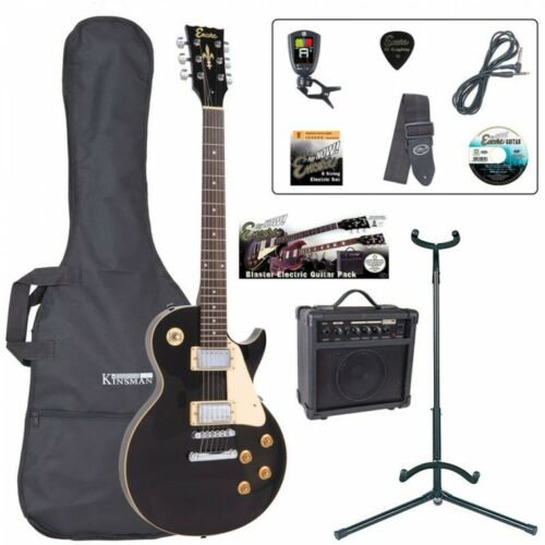 Encore E99 Les Paul Electric Guitar Gloss Black Guitar Package - Gloss Black