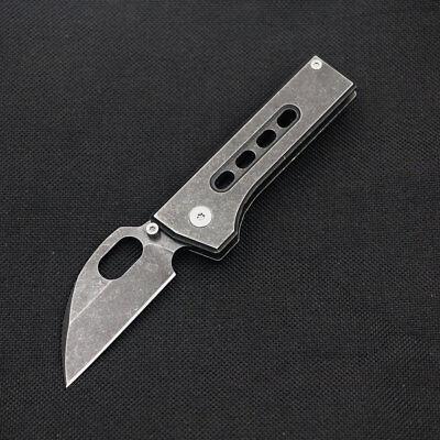MINI Pocket Outdoor Folding Knife 8cr13mov Blade Black Stone wash Best EDC Gift