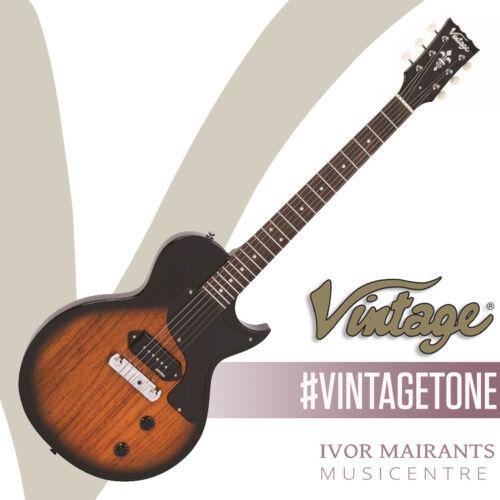 Vintage V120 Electric Guitar Single Cut - Two Tone Sunburst V120TB