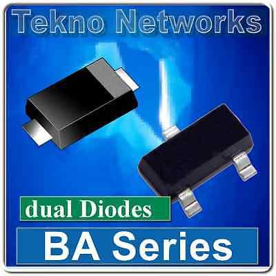 Bat Bas Baw Series Smdsmt Single Dual Series Diodes - 100pcs