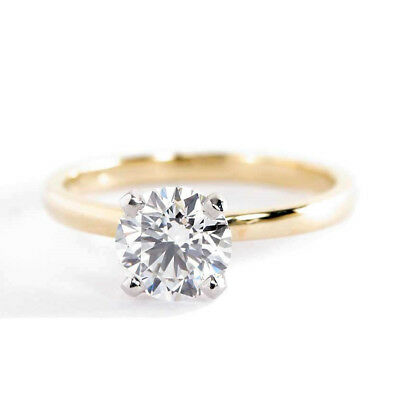 **Video** 1.00 Ct SI2 G Round Diamond Solitaire Engagement Ring 18K-Yellow Gold
