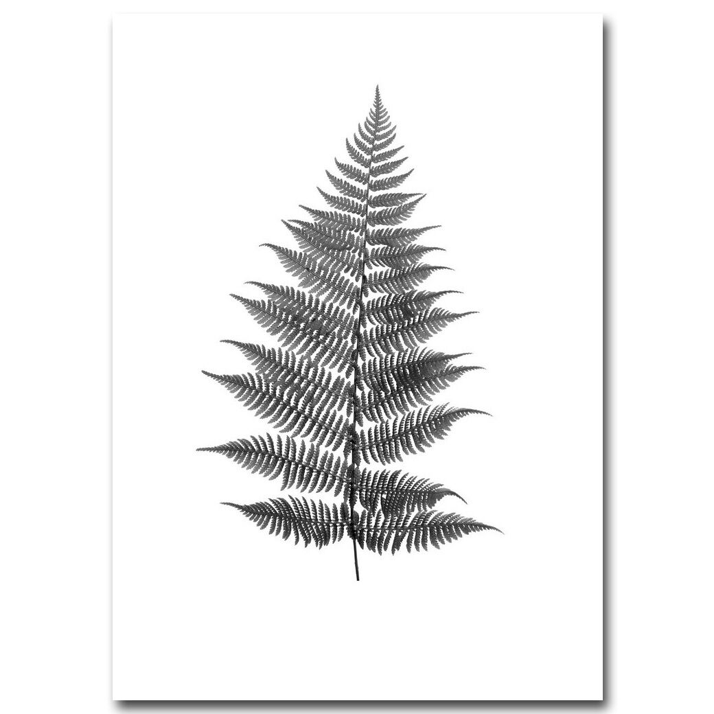 Deer Feather Leaves Canvas Poster Nordic Decoration Minimalist Abstract Prints