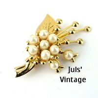 Spilla Vintage Anni'30 ''trifanium''oro-giallo,perle:bella,uso E Collezionismo -  - ebay.it