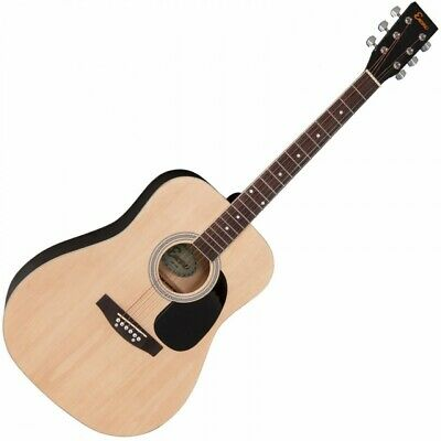 Encore Dreadnought Style Acoustic 6 String Guitar - Natural