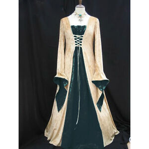 Stunning-Ladies-Medieval-Renaissance-Gown-Dress-Maid-Marion-Fancy-Costume-6764