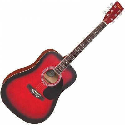 Encore Dreadnought Style Acoustic Guitar 6 String - RED