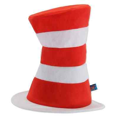 Halloween Cat In The Hat (Cat in the Hat Dr Seuss Striped Fancy Dress Halloween Adult Costume)