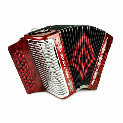 Montanari 3112 MG Accordion GCF Red