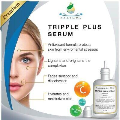 Vitamin C Face Serum cream + Retinol + Hyaluronic Acid. Best Anti Ageing Aging