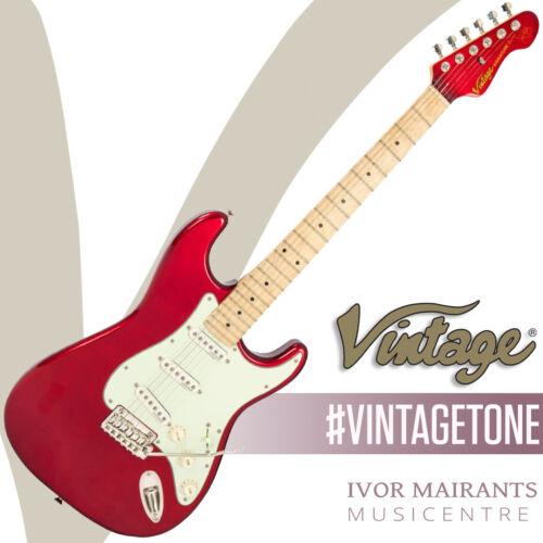 Vintage V6 John Verity Signature Electric Guitar - Candy Apple Red V6JVCAR