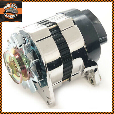 CHROME 18ACR Lucas Type High Output 65 Amp Alternator Pulley & Fan CLASSIC MINI