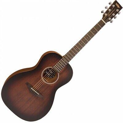 Vintage Statesboro Parlour Acoustic Guitar 6 String V880WK - Whiskey Sour