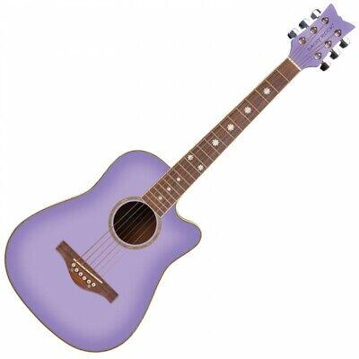Daisy Rock Wildwood Short Scale 3/4 Size Acoustic Guitar - Purple Daze DR6262