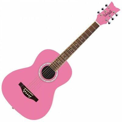 Daisy Rock Debutante Junior 3/4 Size Acoustic Guitar - Bubblegum Pink DR7400