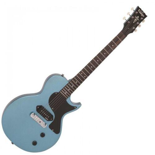 Vintage Electric Guitar V120GHB Gun Hill Blue V120 Single Cutaway