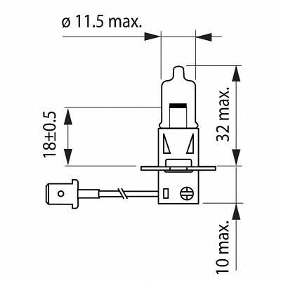 H3 Philips FahrzeuglampeWhiteVision 12336WHVB1 12V Lampe 1 Stück