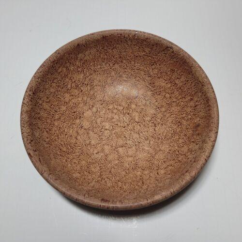 """Vintage 8 """" BOLTALITE Melamine Faux Burl Wood Serving Bowl MCM - USA"""