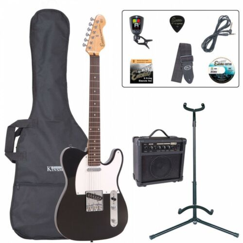 Encore E2 Electric Guitar Outfit - Gloss Black Learner Beginner Starter Package